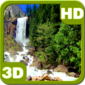Nice Tall Waterfall 3D