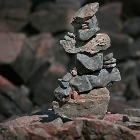 Rock Man by Gary Enloe - Artistic Objects Other Objects ( water, balance, rocks )
