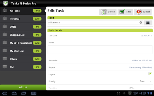 Tasks N ToDos Pro - To Do List - screenshot thumbnail