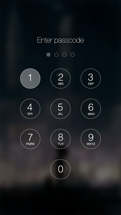Passcode Keypad Lock Screen Screenshot