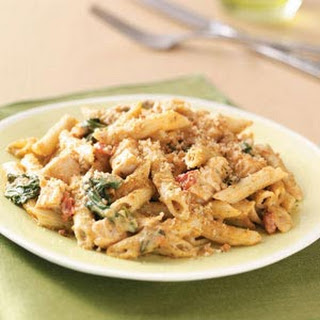 Pesto-Chicken Penne Casseroles