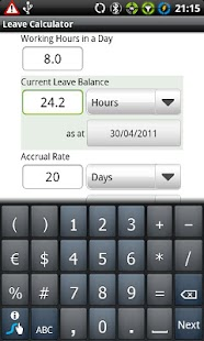 Leave Calculator- screenshot thumbnail