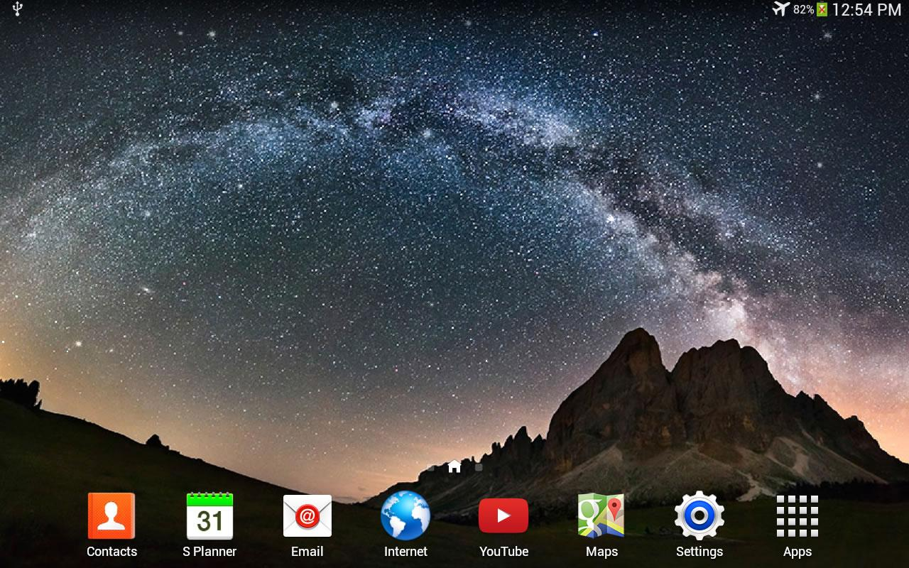 Night Sky Live Wallpaper - screenshot