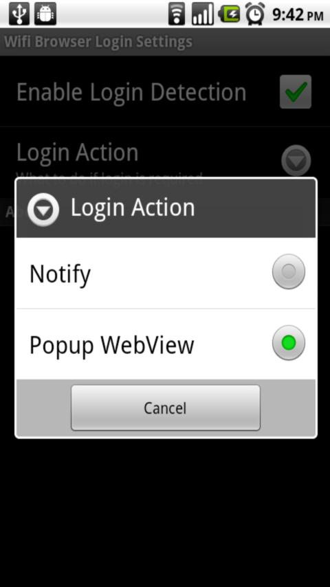 Wifi Browser Login - screenshot
