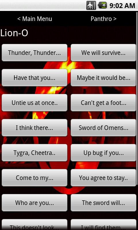 Thundercats Soundboard - screenshot