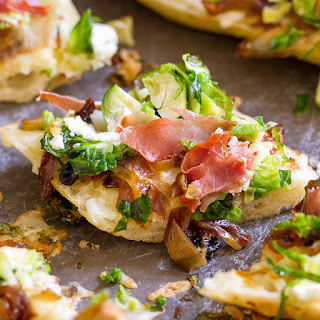 Brussels Sprouts Prosciutto Pizza