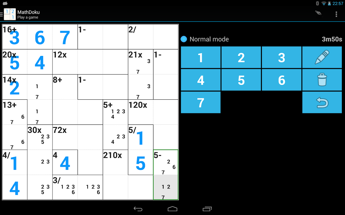 MathDoku - screenshot