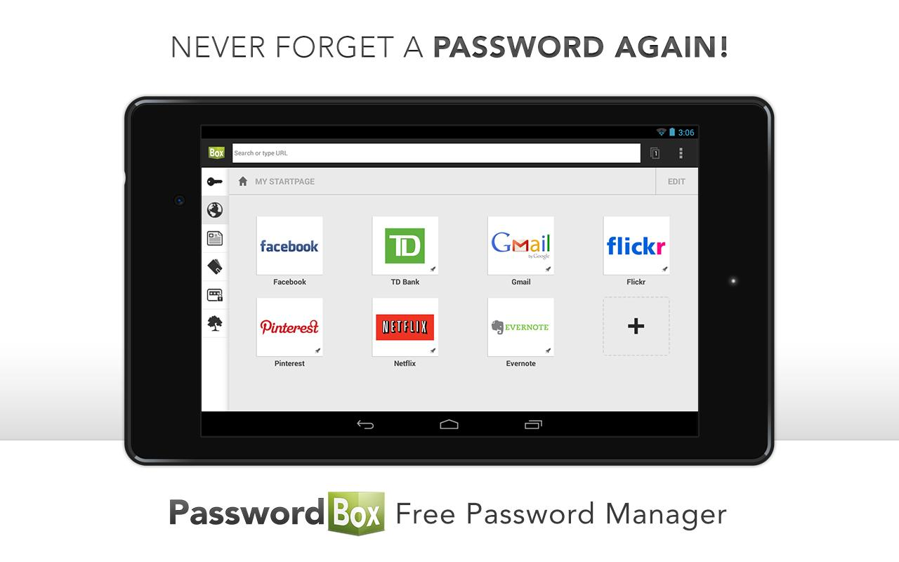 PasswordBox Free Password Safe - screenshot