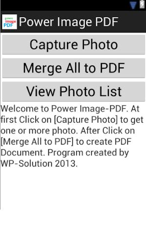 Power Image to PDF