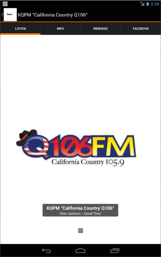 "KQPM ""California Country Q106""- screenshot"