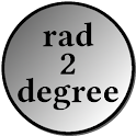 degree radian converter icon
