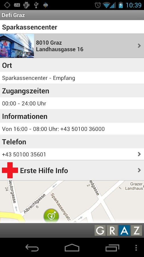 City of Graz Defi App- screenshot