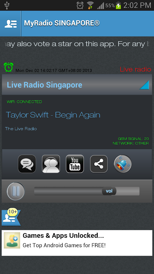 MyRadio SINGAPORE - screenshot