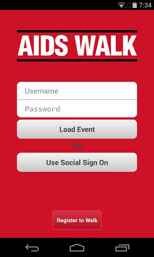 AIDS Walk Fundraising App