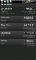 Screenshot of The World Clock Free