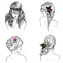 Hairstyle reference step icon