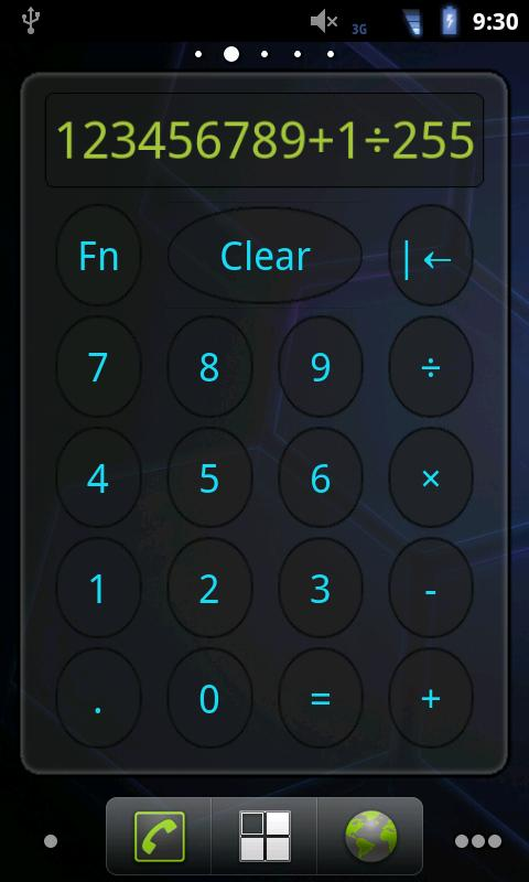 Calculator Widget - screenshot