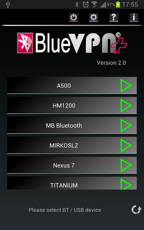 BlueVPN+ - screenshot