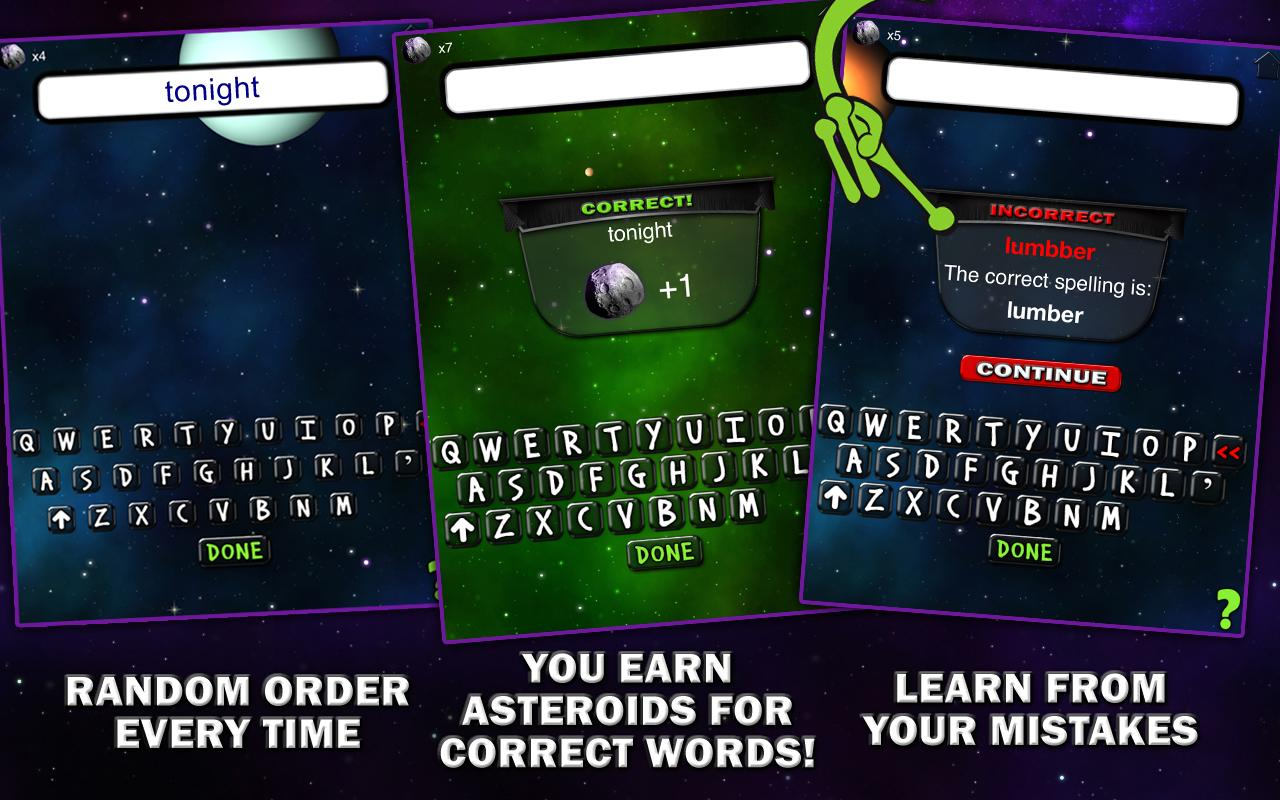 Spelling Space - 4th Grade - screenshot