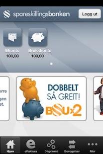 Spareskillingsbanken Mobilbank- screenshot thumbnail