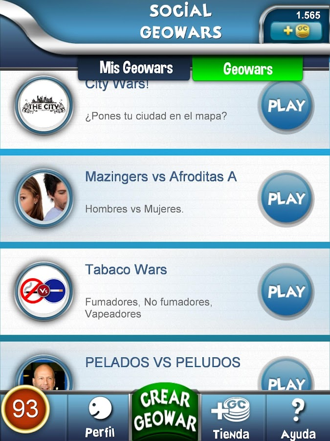 Social Geowars. Play&Win. - screenshot