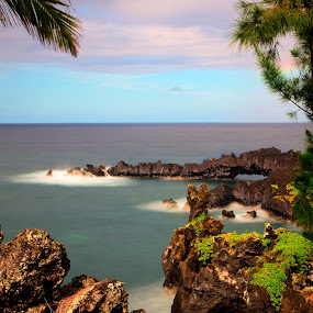 Road To Hana by Eddie Tuggle - Landscapes Waterscapes ( water, hana, ocean, rocks, hawaii )