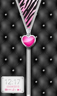 ♥ Heart Zipper Lock Screen ♥