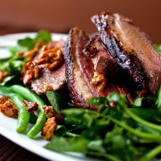 Crispy Duck Salad With Green Beans and Honeyed Almonds