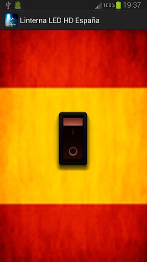 Linterna LED bandera España