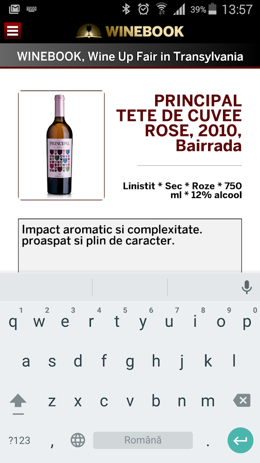 WINEBOOK- screenshot