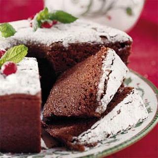 "Chocolate Velvet ""Pound"" Cake."