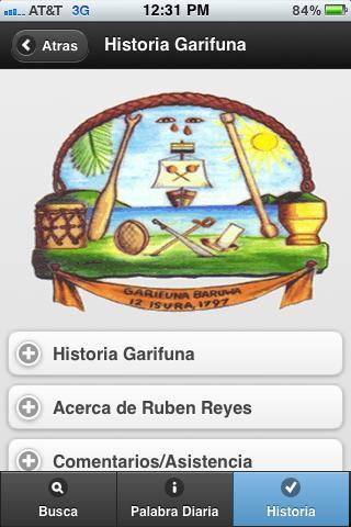Garifuna-Español Diccionario- screenshot