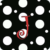 Polka Dot Monogram J Live WP