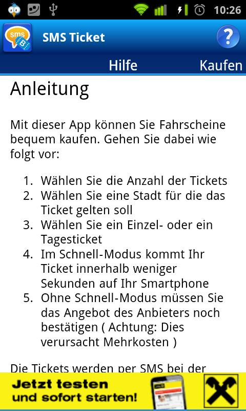 SMS Ticket Österreich- screenshot