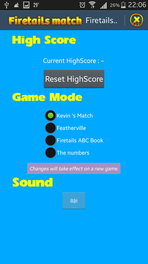 Firetails Match Game- screenshot