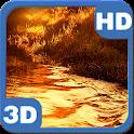 Glitter River Sunset Landscape icon
