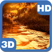 Glitter River Sunset Landscape