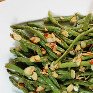 Garlic Roasted Green Beans with Almonds.