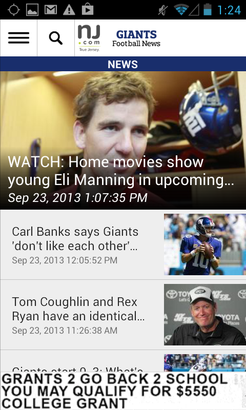 NJ.com: New York Giants News - screenshot
