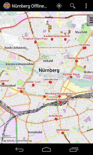 Nuremberg Offline City Map