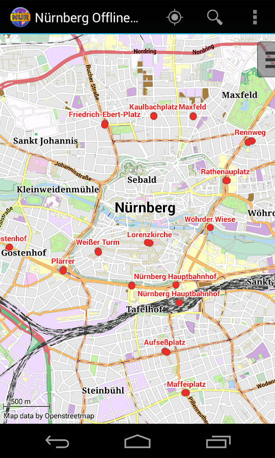 Nuremberg Offline City Map Android Apps on Google Play – Nuremberg Tourist Map