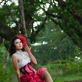 Pink by Mochammad Kurniawan - People Portraits of Women ( pink, women )