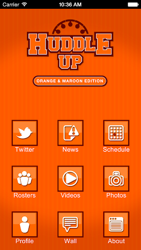 Huddle Up – Orange Maroon