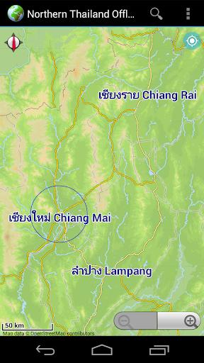 Offline Map Northern Thailand