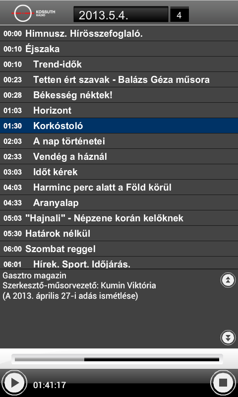 Magyar Rádió Hangtár - AIR- screenshot