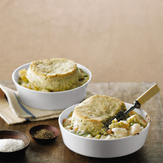 Cod Potpies with Dill Biscuit Crusts