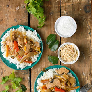 Slow Cooker Thai Red Chicken Curry with Coconut Milk.