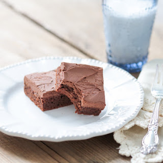 Grain Free Fudgy Brownies with Dairy Free Chocolate Frosting Recipe