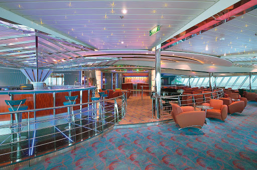 Jewel-of-the-Seas-Vortex-Bar - Have a drink or make new friends at the disco-style Vortex Bar aboard Jewel of the Seas.