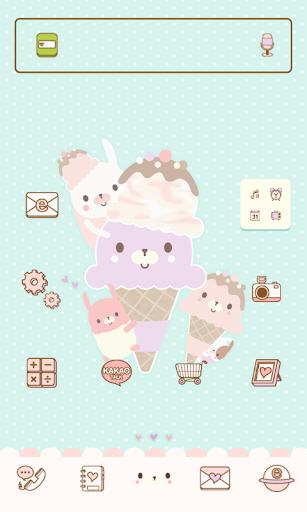 아쭈 아이스크림 도돌런처 테마